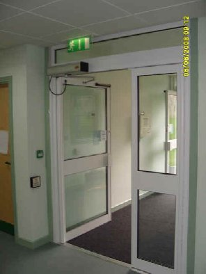 Automatic swinging doors